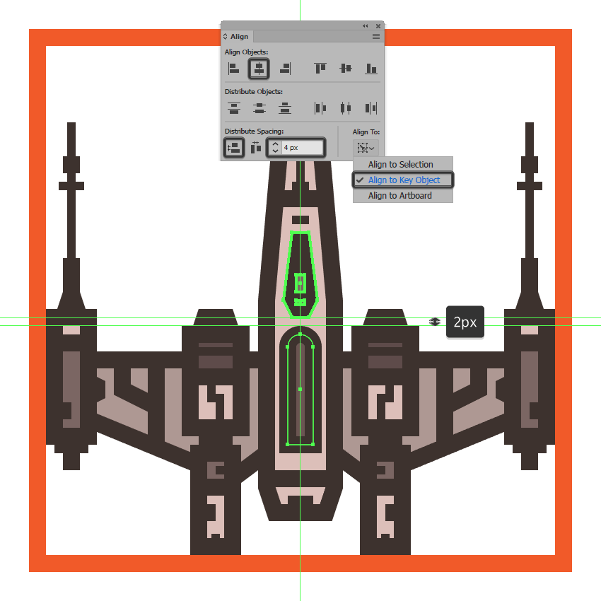 creating the main shapes for the x-wings deflector shield generator