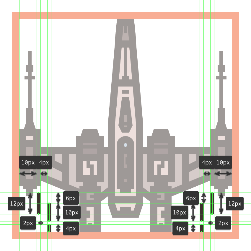 finishing off the x-wing icon