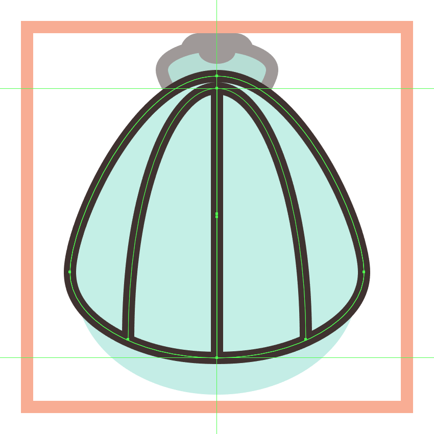 adding the vertical detail line to the shell icons inner body section