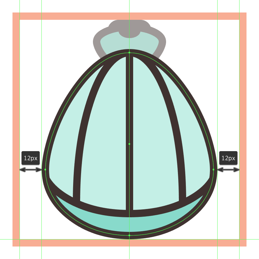 finishing off the shell icon