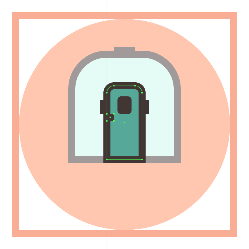 adding the handle to the trains door