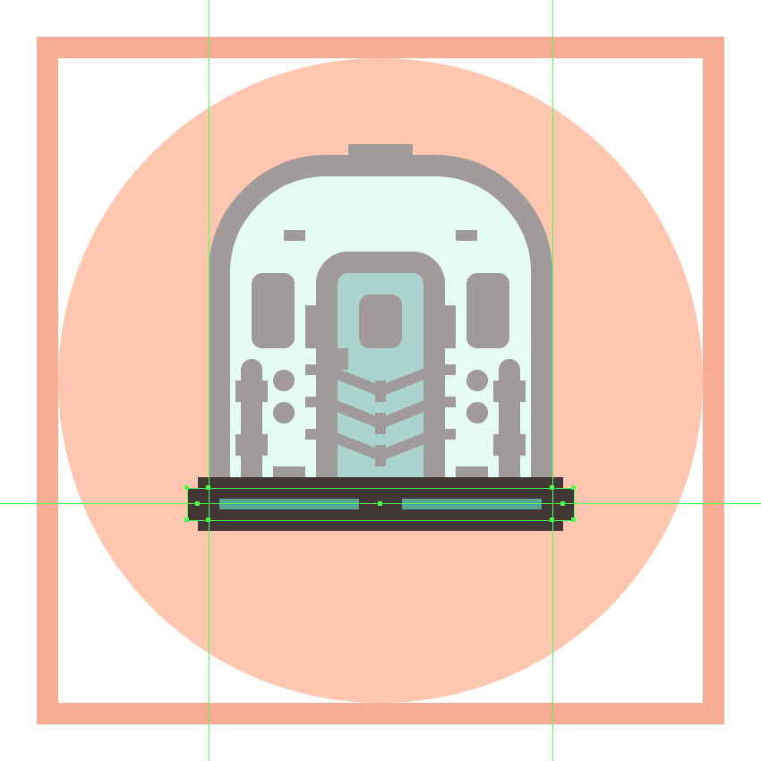 adding the side pieces to the trains bottom section