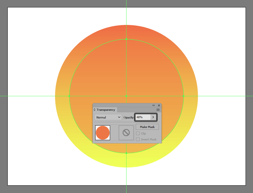 adding the larger circle to the suns glow section