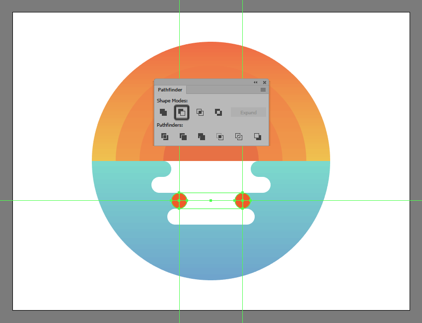 adjusting the shape of the illustrations smaller reflection segments
