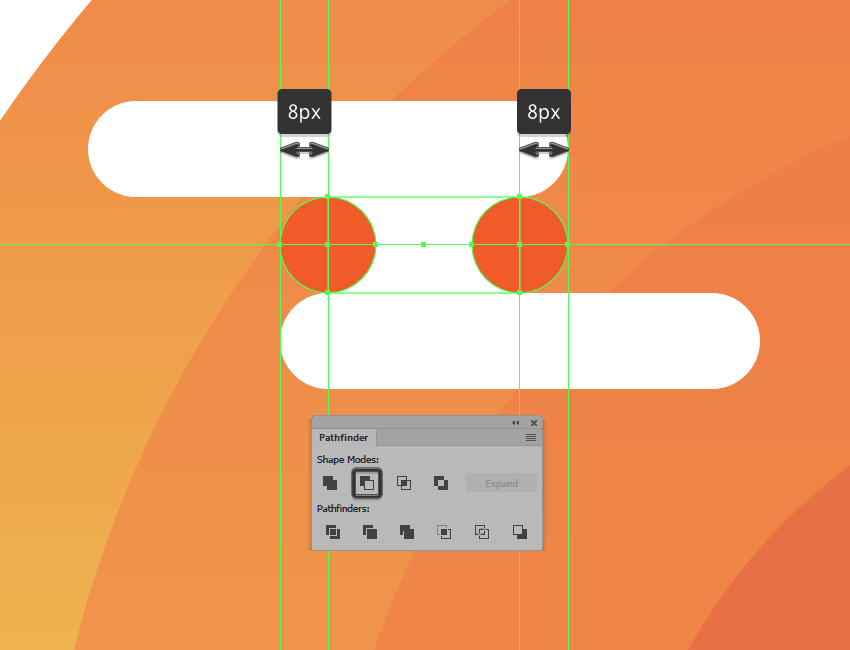 creating and adjusting the center shape for the illustrations first cloud group