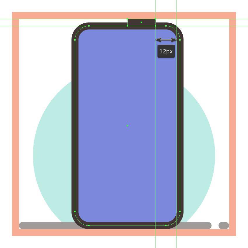 adding the top button to the third phones side section