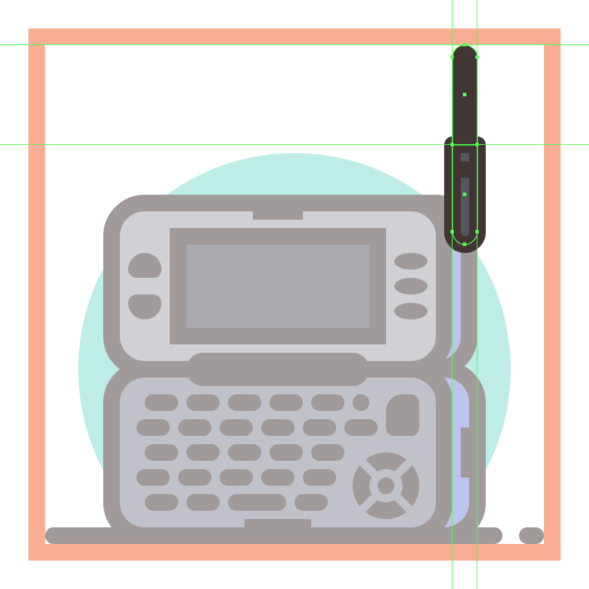 adding the upper body to the second phones antenna