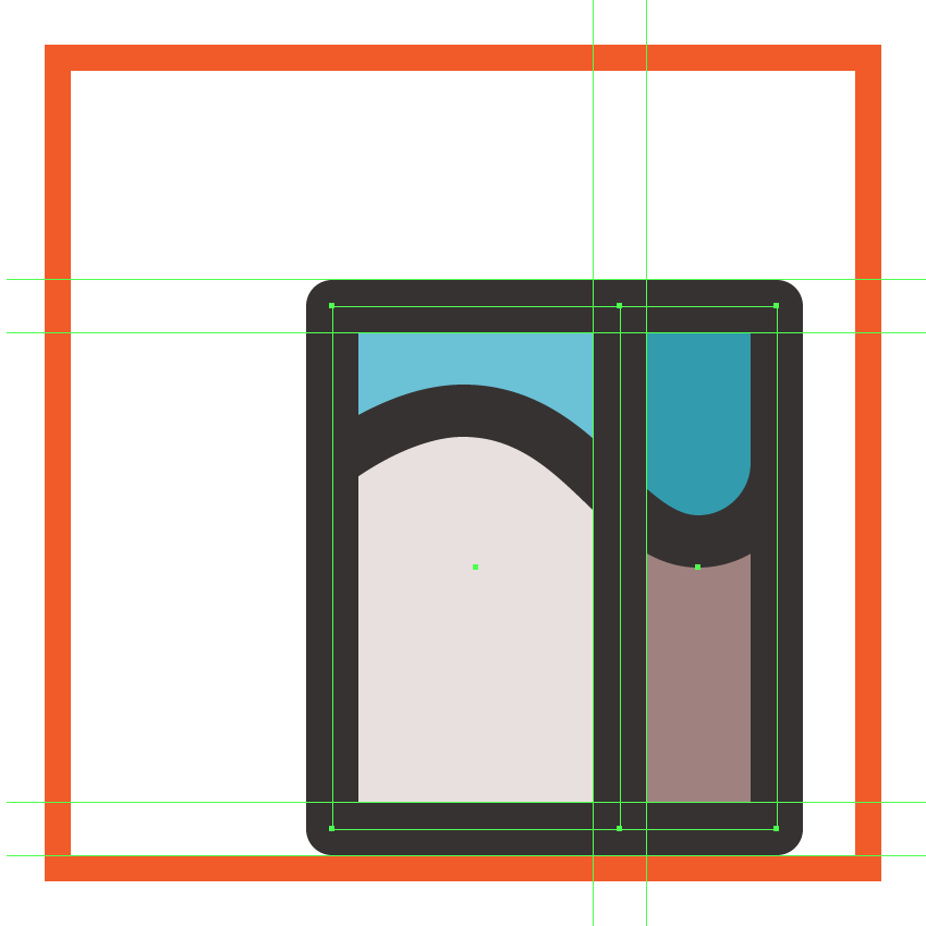 adding the outlines to the milk boxs lower body