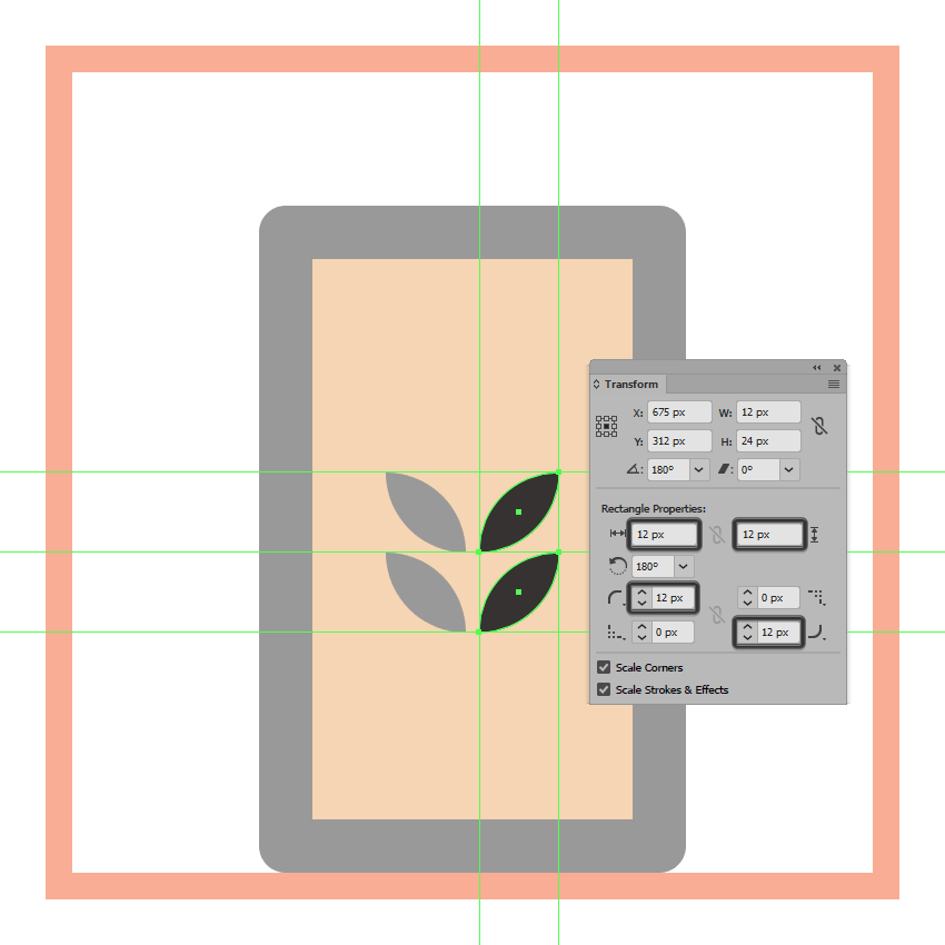 adjusting the shape of the grain symbols right squares