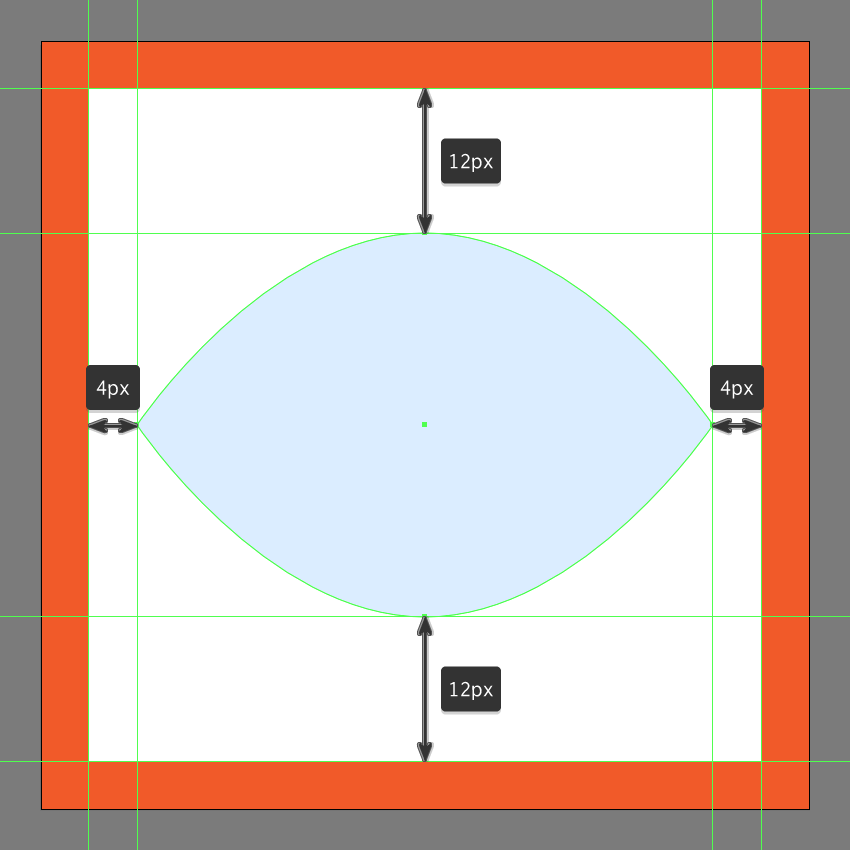 adjusting the shape of the toggle on visibility button