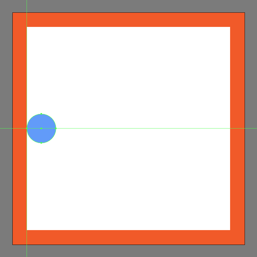 creating the main circle for the menu buttons center section