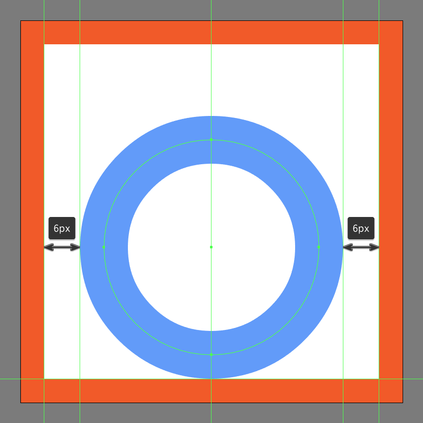 creating and positioning the main shape for the refresh buttons main body