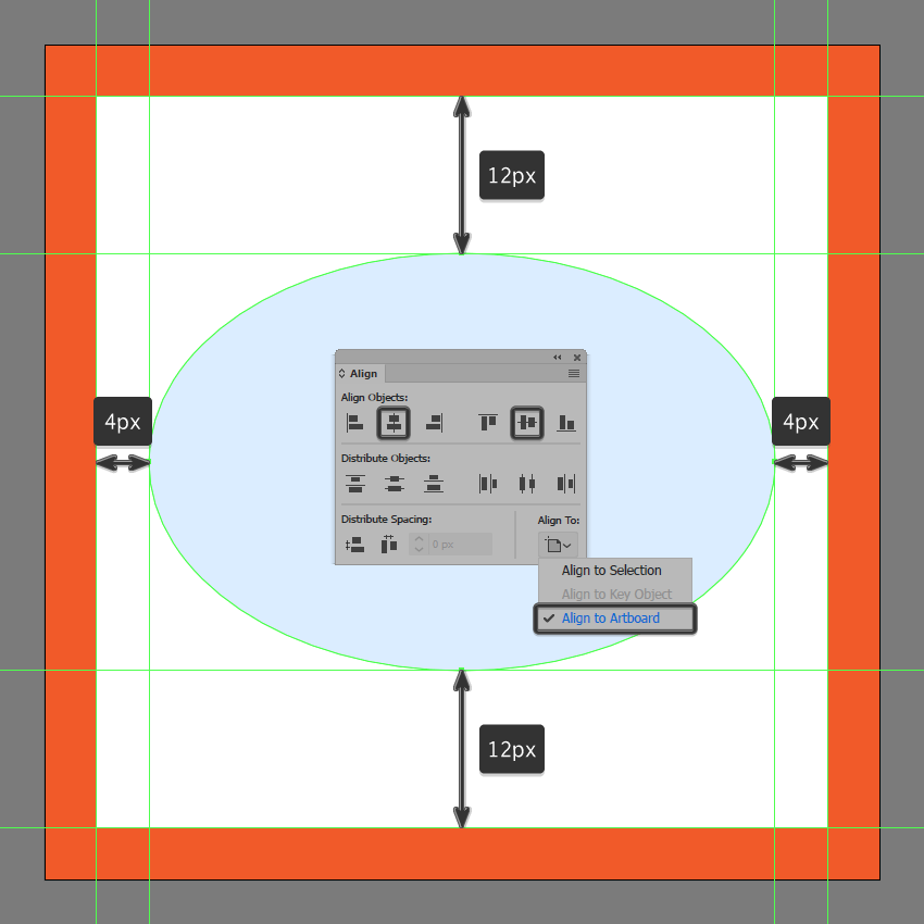 creating and positioning the main shape for the toggle on visibility button