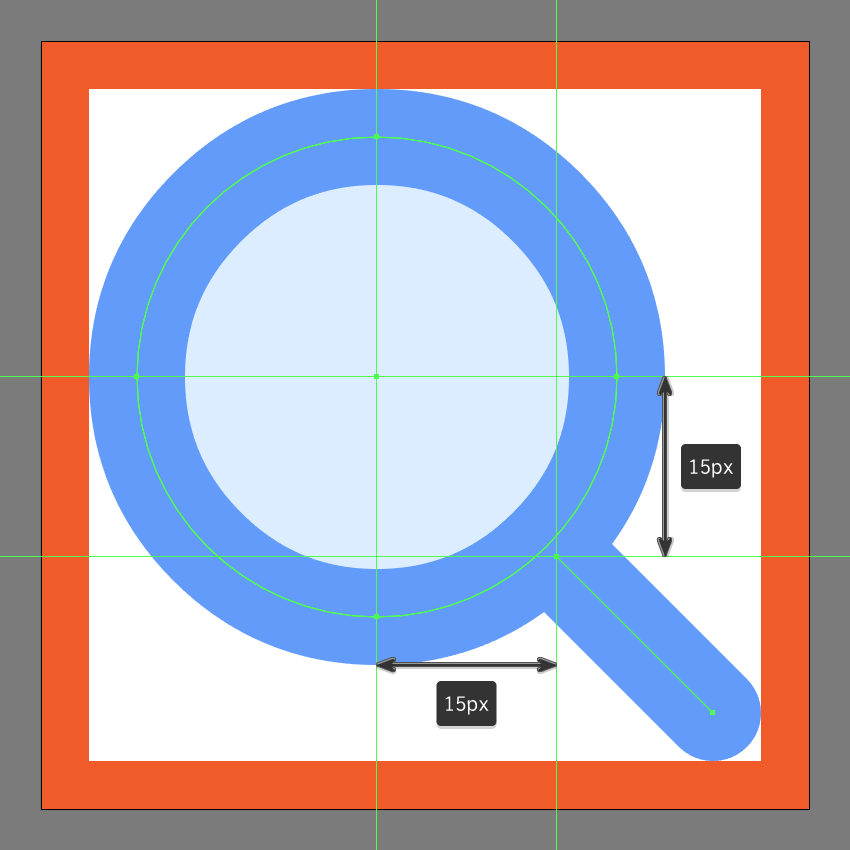 finishing off the search icon