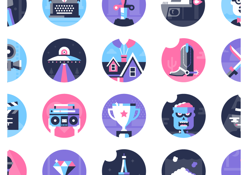 flat icons by dominic flask