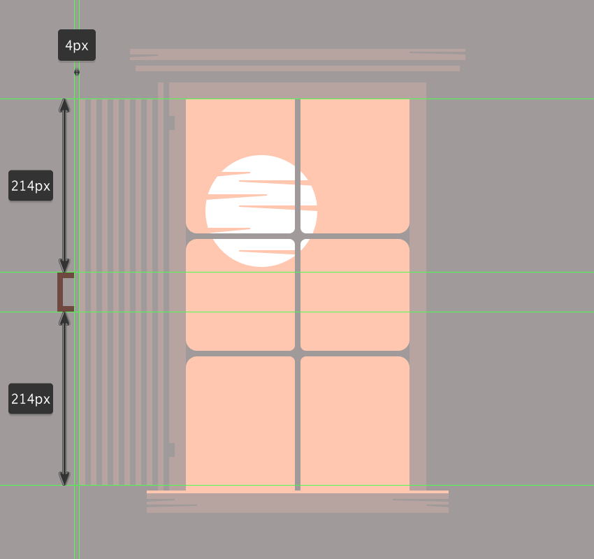adding the handle to the windows left cover door