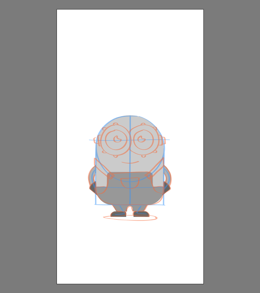 creating the main shapes for the body of Bob