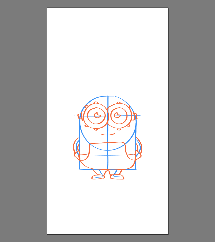 drawing the hands and legs of Bob