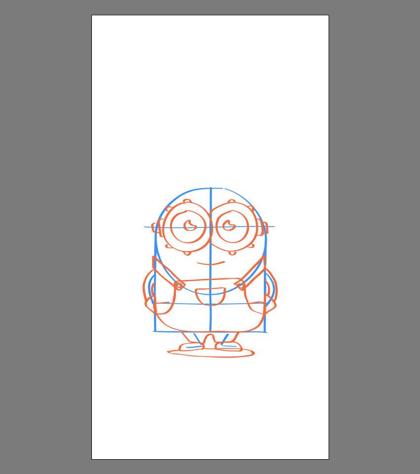 drawing details to the body of Bob
