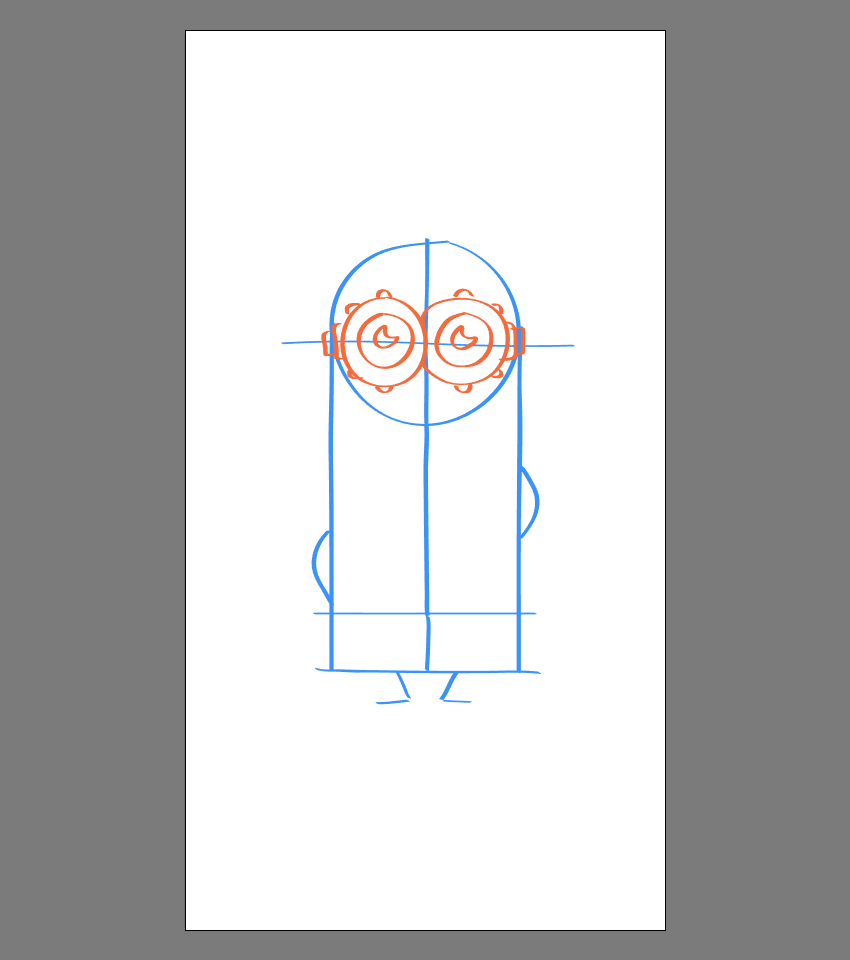 drawing the eyes for Kevin
