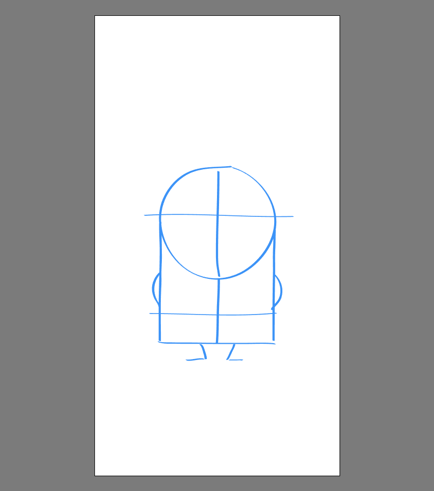 drawing the legs for Stuart