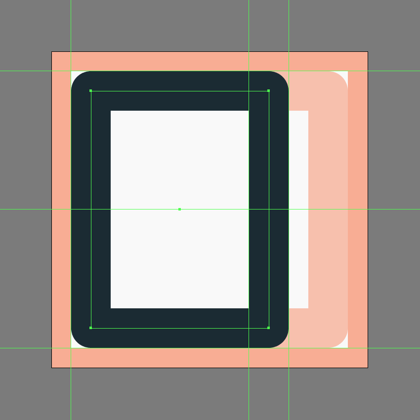 creating and positioning the main shape for the left section of the skip forward button