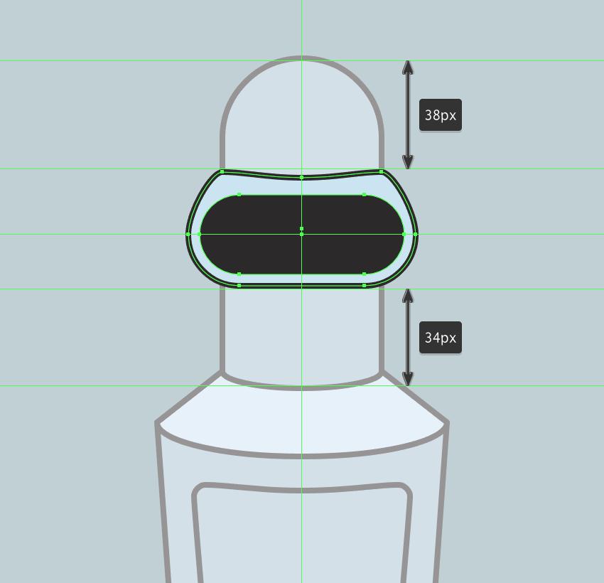 adding the outline to the visor
