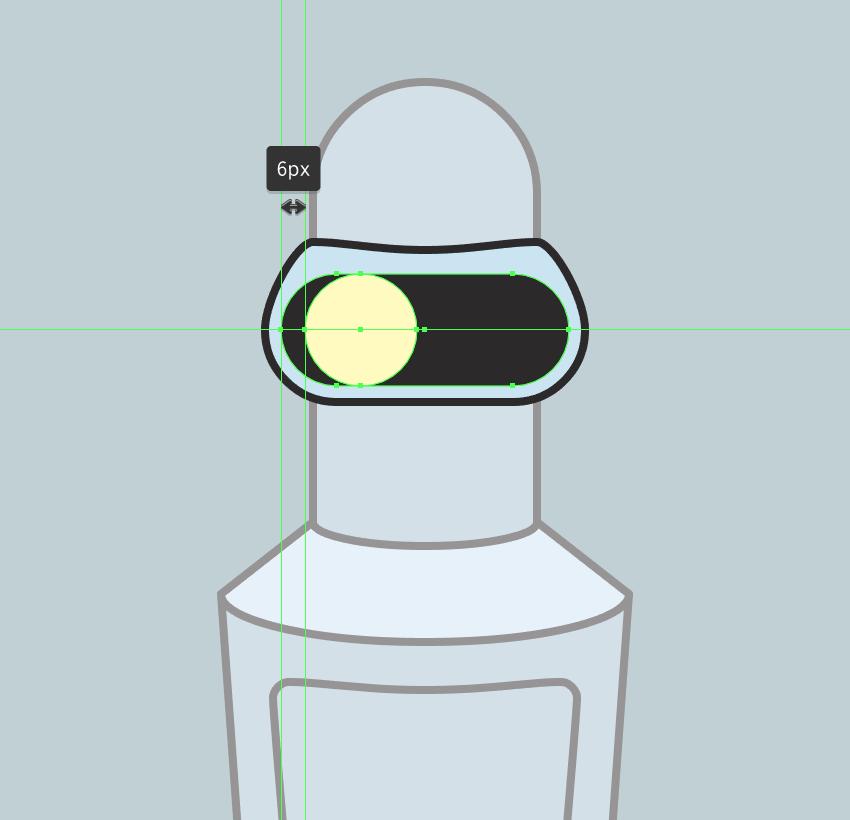 adding the left eye to the visor