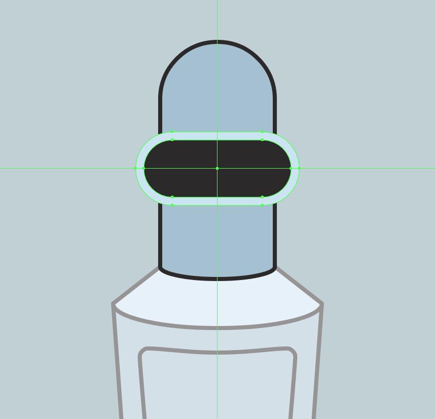 adding the inner section of the visor