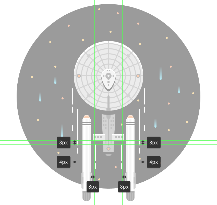 adding the bottom warp lines
