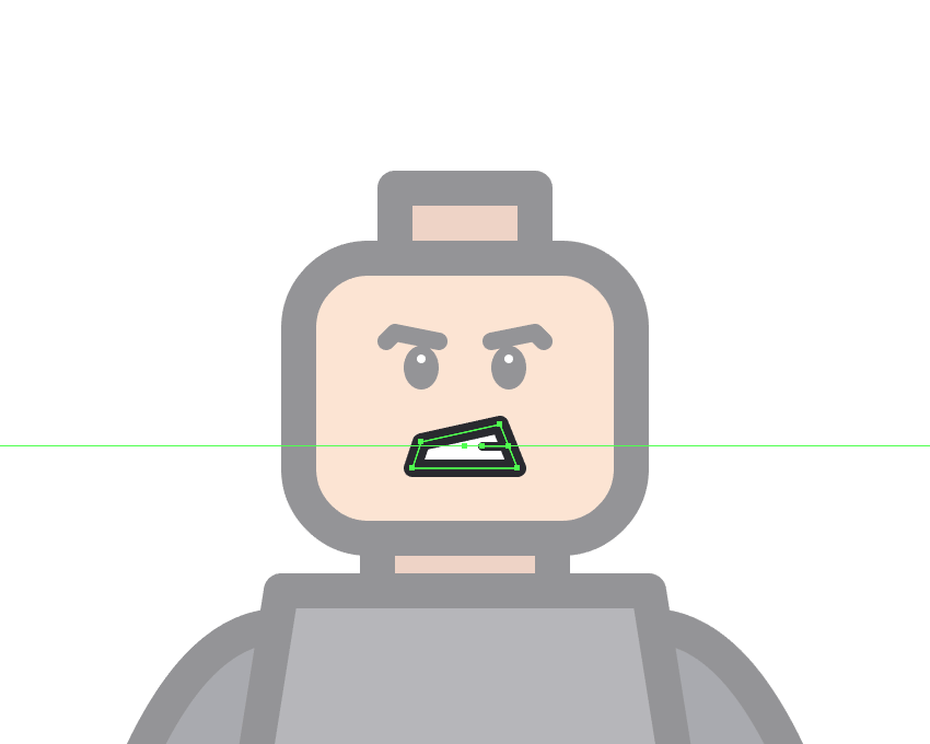 adding the horizontal detail line to the mouth