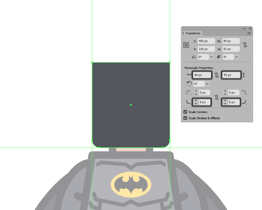 adjusting the bottom corners of the mask