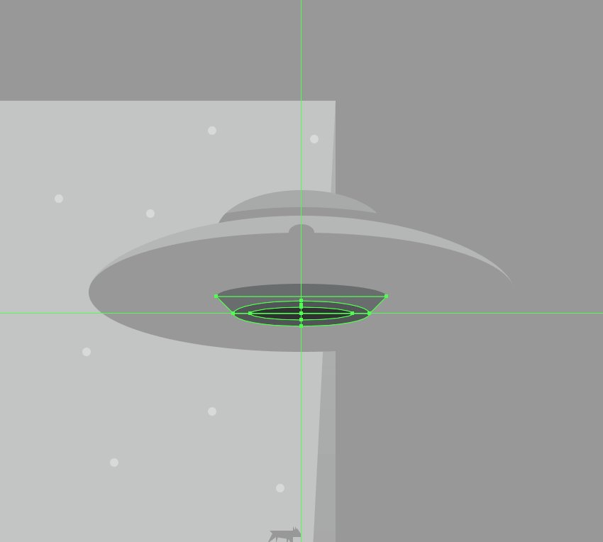 creating the bottom section of the tractor beam