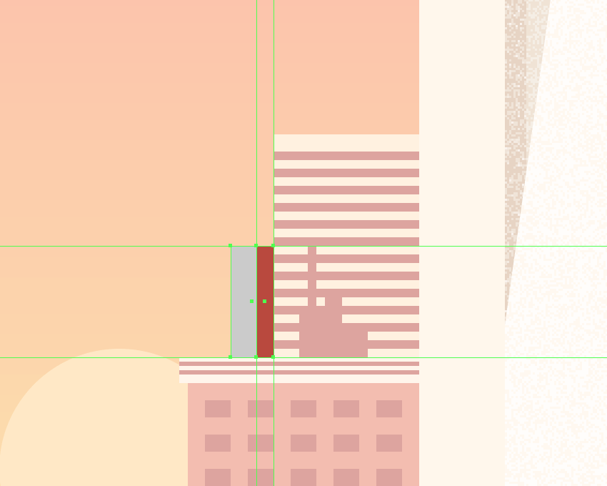 adding the shadow to the smaller right-sided building