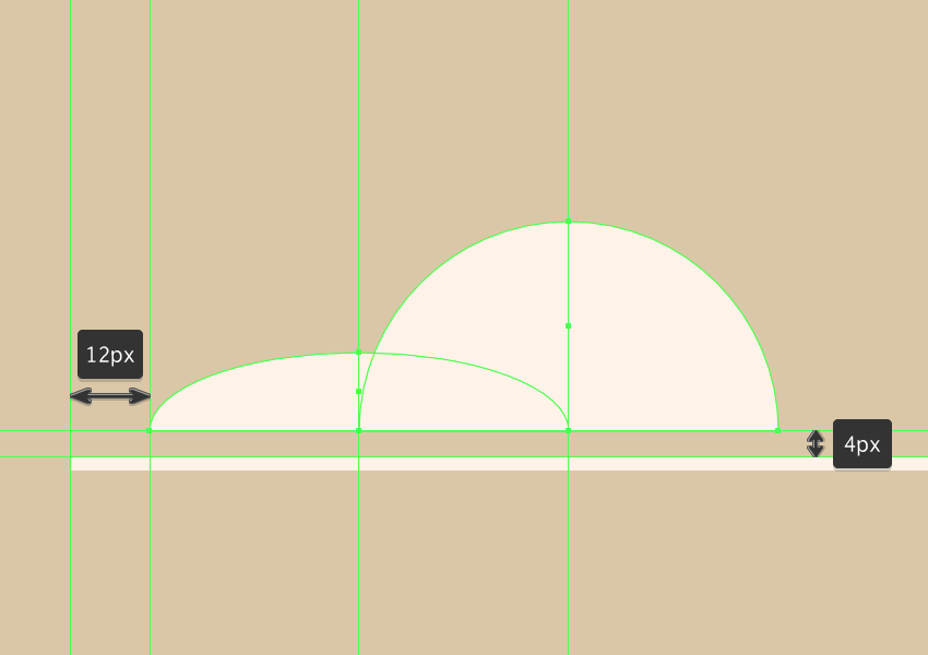 adding the round cloud section to the left side of the composition