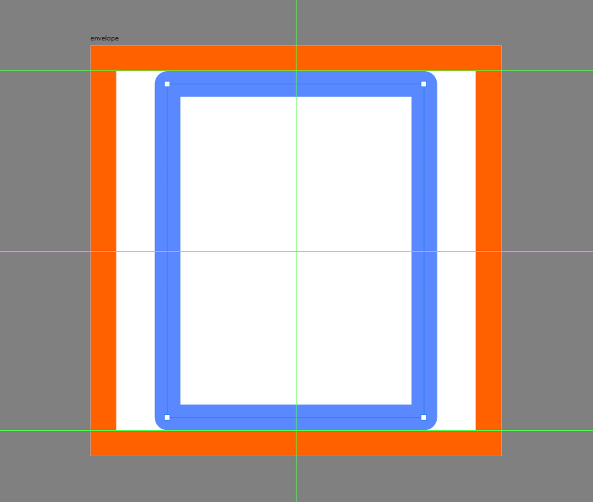 creating the main shape for the envelope icon