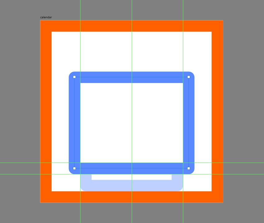 adding the main body of the calendar icon