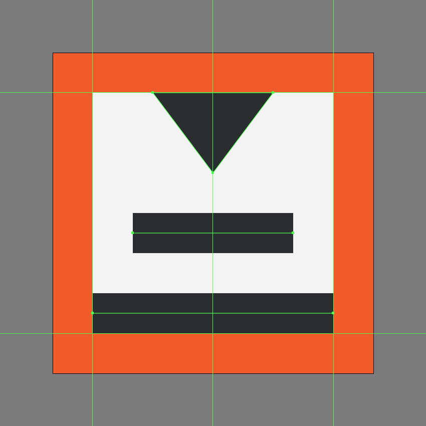 creating the main shapes for the add space after paragraph icon