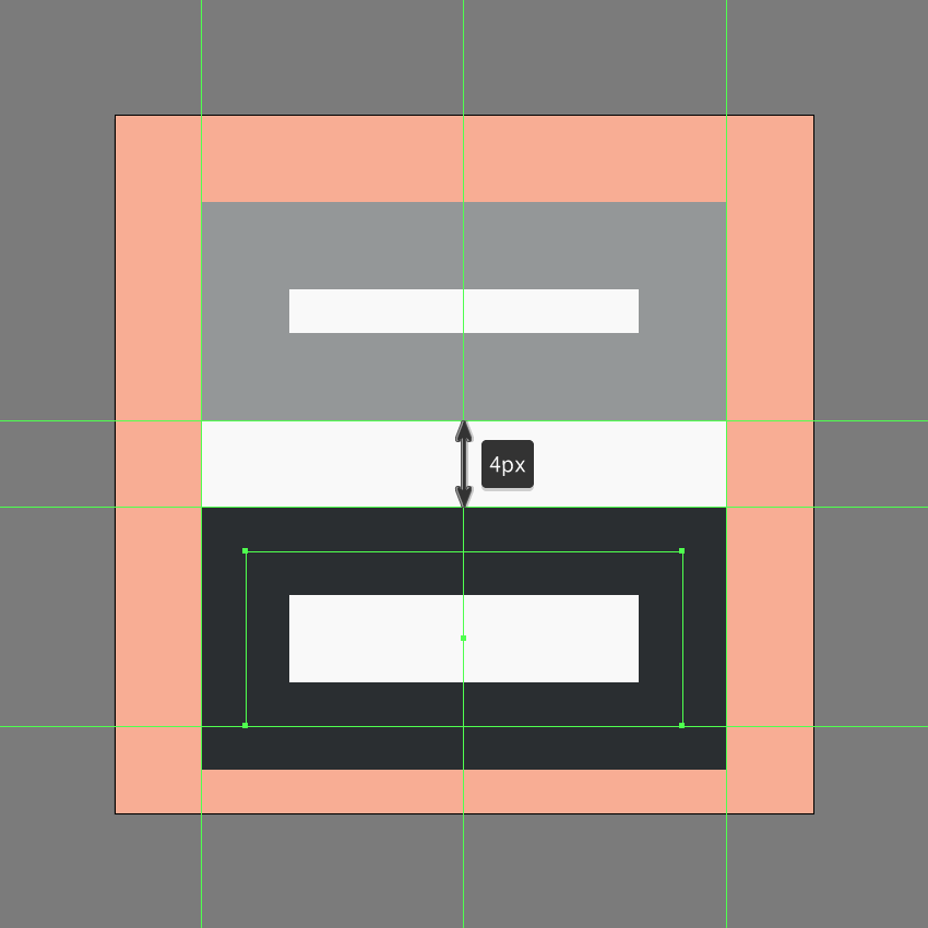 creating the lower section of the insert header icon