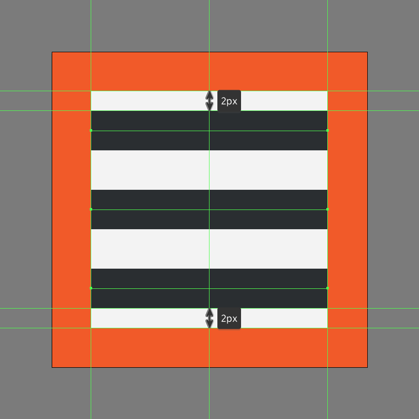 creating the main shapes for the left align icon