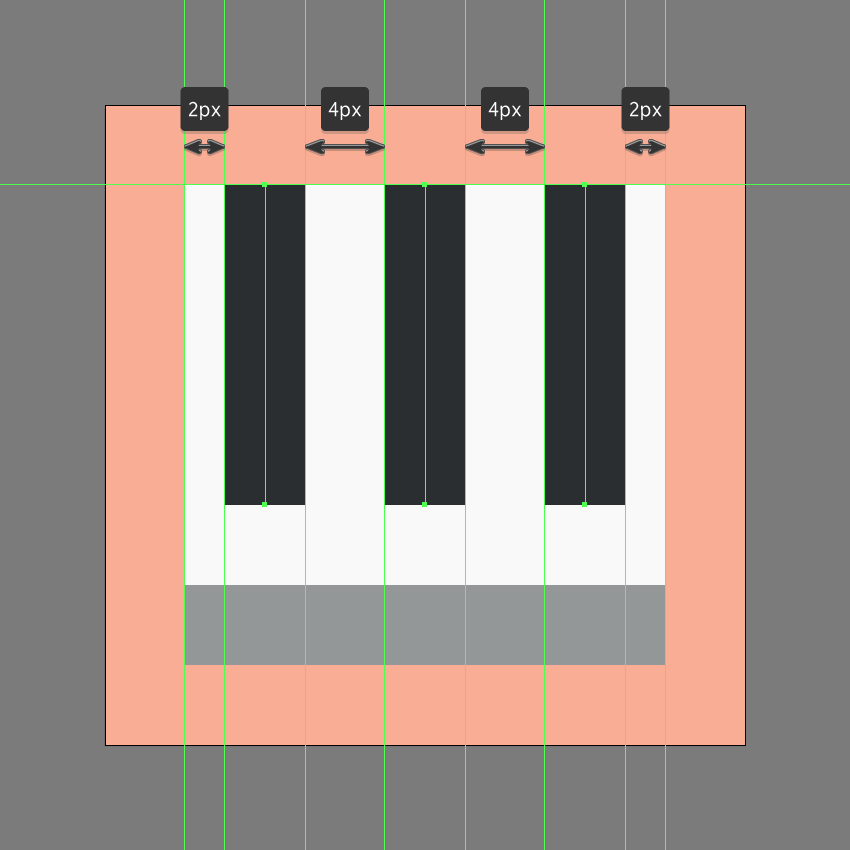 adding the vertical lines to the chart icon