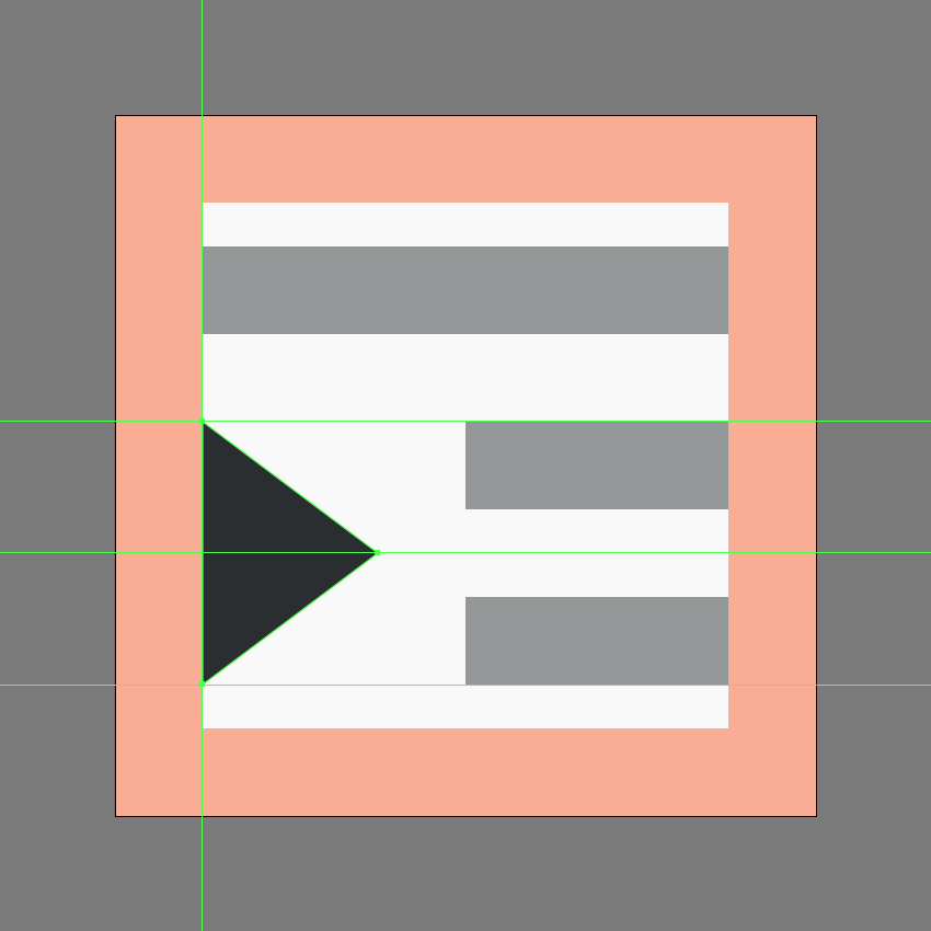 finishing off the increase indent icon