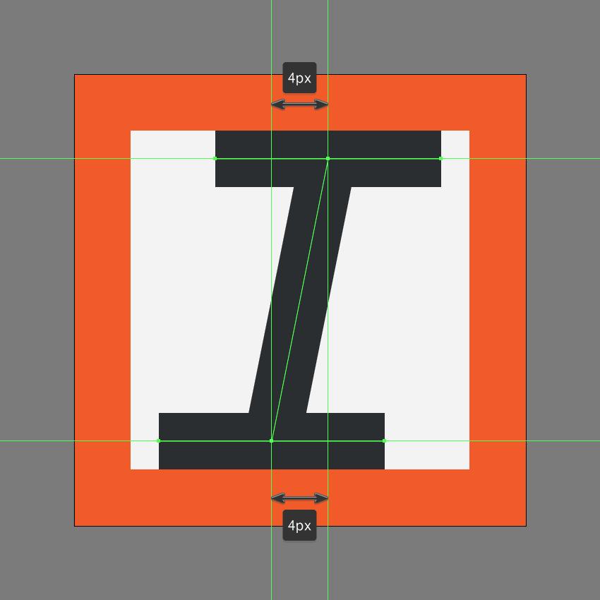 finishing off the italic icon