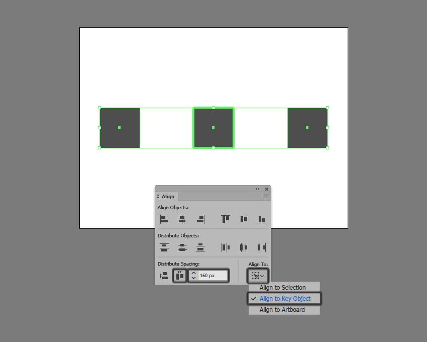 multiple shape distribution in illustrator