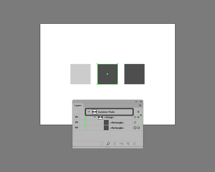 example of isolated shapes in illustrator