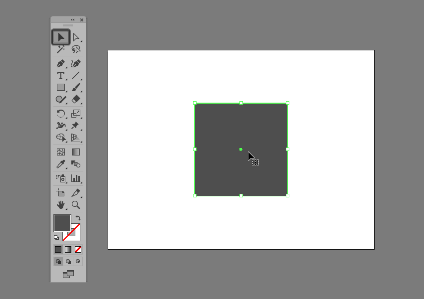 example of shape selection in illustrator using the selection tool