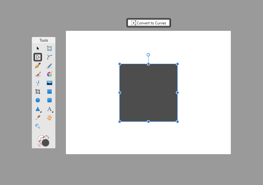 node selection example in affinity designer