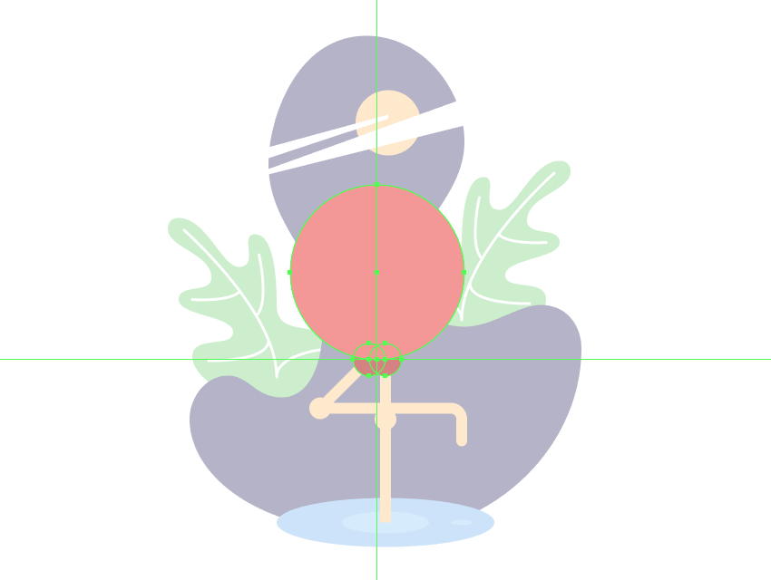creating the main body of the bird
