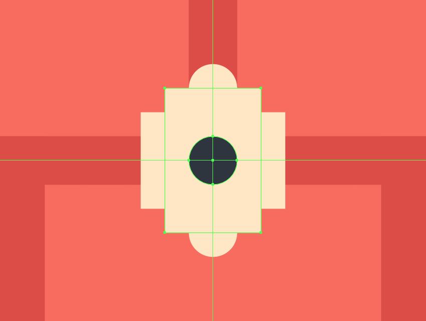 adding the circular button to the doorbell