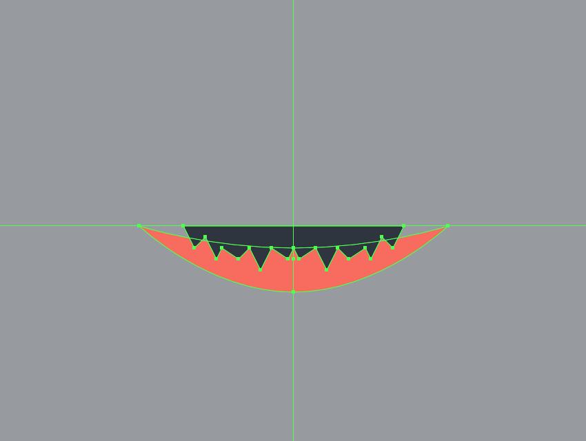 drawing the teeth